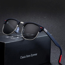 Sunglasses Men Round Polarized Brand DAVE Designer Mirror Wo