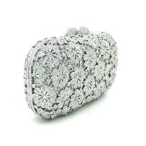 Image 3 - Femmes soirée sac de fête diamants luxe cristal embrayage mariée mariage fête sacs à main sac fleur chrysanthème cristal sacs à main