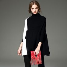 2016 new style Fashion poncho Winter Women Sweaters cotton Clothing Sweet Casual Tops Classic party Collar Loose  Sweater Female