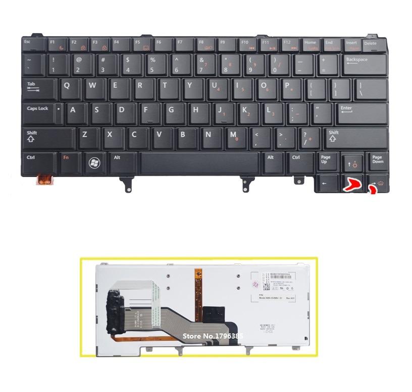 US Keyboard English For DELL Latitude E6420 E5420 E5430 E6220 E6320 E6330 E6430 laptop With backlight