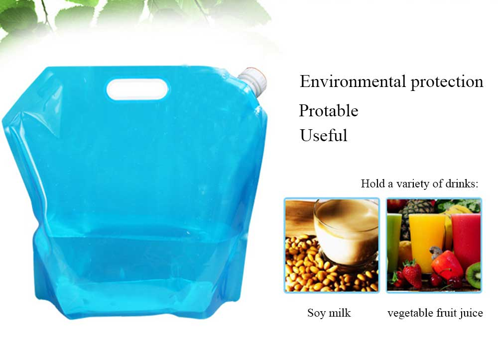 Outdoor Collapsible Water Container Portable Water Bag for Camping Hiking 10L FD