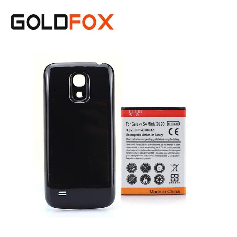 Haute Qualité Mobile Téléphone Batteria Pour Samsung Galaxy S4 SIV mini i9190 Rechargeable Batterie De Remplacement 4300 mAh + Couverture Arrière cas
