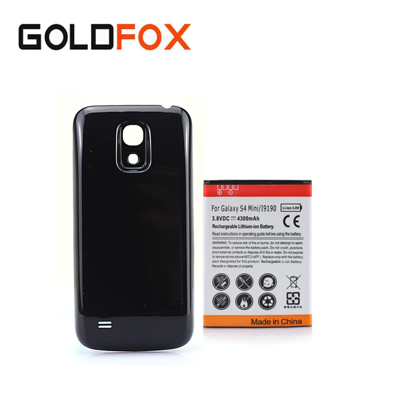 High Quality Mobile Phone Batteria For Samsung Galaxy S4 SIV mini i9190 Rechargeable Replacement Battery 4300mAh+Back Cover Case