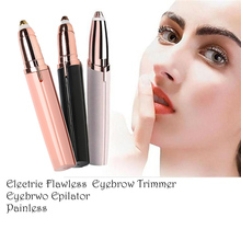 Electric  Lipstick Eyebrow Trimmer Brow Hair Remover Pen Mini Electric Shaver Painless Eye Brow Epilator