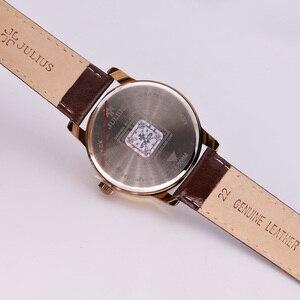Image 3 - 4 צבעים למעלה יוליוס גבר גברים של שעון יפן קוורץ שעות שעון אוטומטי תאריך בסדר אופנה אמיתי עור ילד של רטרו יום הולדת אריזת מתנה