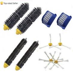 Alta qualidade cerdas & flexível batedor & escova armada & aero vac filtro para irobot roomba 600 620 630 650 660