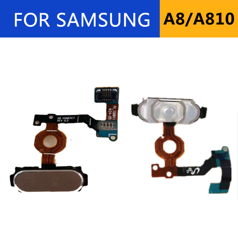 For Samsung Galaxy A8 Pro A8 2016 A810 A810F Home Button Fingerprint Sensor Flex Cable A800F
