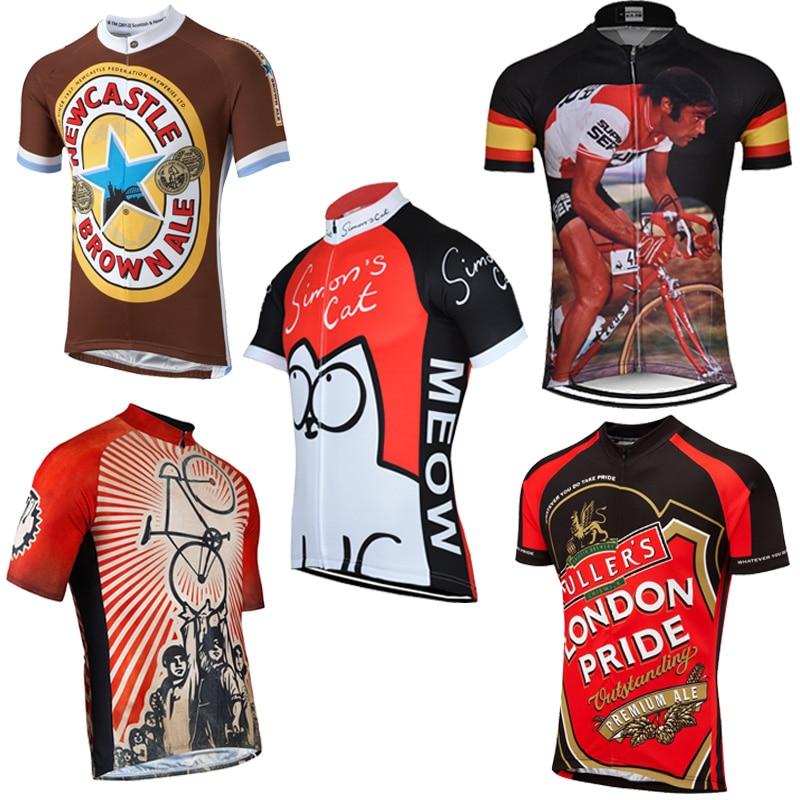 Simon/'s Cat Cycling Jersey Retro Road Pro Clothing MTB Short Sleeve Racing Bike