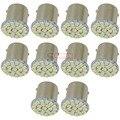 10 pcs 1156 ba15s P21w s25 22 smd LED para sinal de volta Do Carro luzes reverter 22smd lâmpadas led bulb lâmpadas led 1206 3020 soquete do bulbo