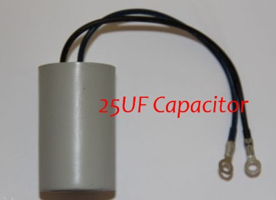 25uf Hot Tub Pump Capacitor - for Whirpool LX TDA200 JA200 and other pumps