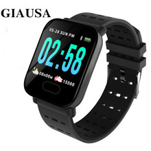 GIAUSA A6 Waterproof Smart Watch Blood Pressure Heart Rate Monitor Smart Bracelet Fitness Tracker BRIM Smartwatch new arrival stranger things print sweatshirts hoodies 2019 men cool tracksuits winter hoodie hip hop jacket male hoody harajuku