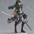 "Japan Classic Anime Cool 6"" Attack On Titan Figma Shingeki No Kyojin Levis Boxed PVC Action Figure Model Kids Toys 213"