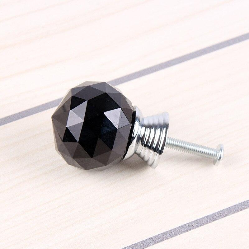 10pcs Black Crystal Glass Diamond Furniture Handles Hardware Drawer  Wardrobe Kitchen Cabinets Cupboard Door Pull Knobs