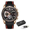 Nuevos relojes LIGE para hombre, reloj con correa de silicona, reloj de pulsera de cuarzo con cronógrafo deportivo resistente al agua de lujo, reloj Masculino