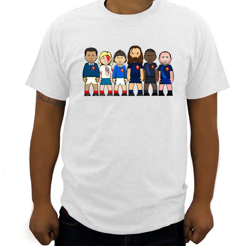 Francia rugbying leyendas Sella Serge Blanco Jean Pierre Rives Raphael Ibanez Chabal Betsen camiseta verano algodón hombres camiseta