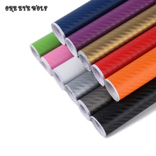127*20CM 3D Carbon Fiber Film Vinyl Wrap Car Stickers For Automobiles Motorcycle Body Internal Styling Decals Accessories