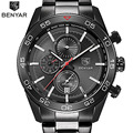 Luxury Brand BENYAR Waterproof Men's Watches Full Steel Quartz Analog Army Military Sport Watch Clock Male Relogio Masculino