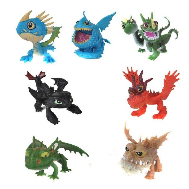 2 9 pcs Como Treinar O Seu Dragão Fúria Da Noite Desdentado PVC Figuras de Ação Modelo Figuras Anime Bonecas Dos Desenhos Animados do Filme crianças Brinquedo