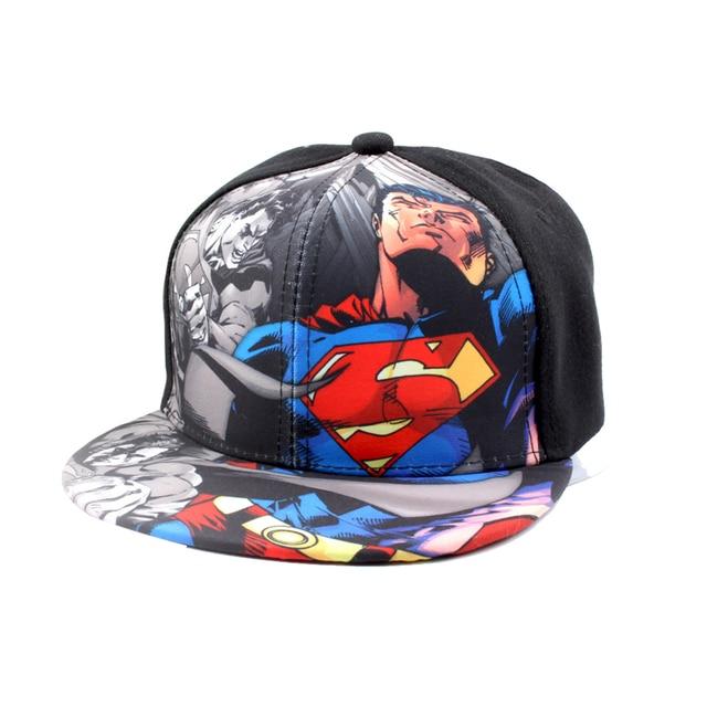 2018 Batman VS Superman moda spiderman niños casual malla gorra hip-hop  béisbol sombrero ajustable 21cf2435535