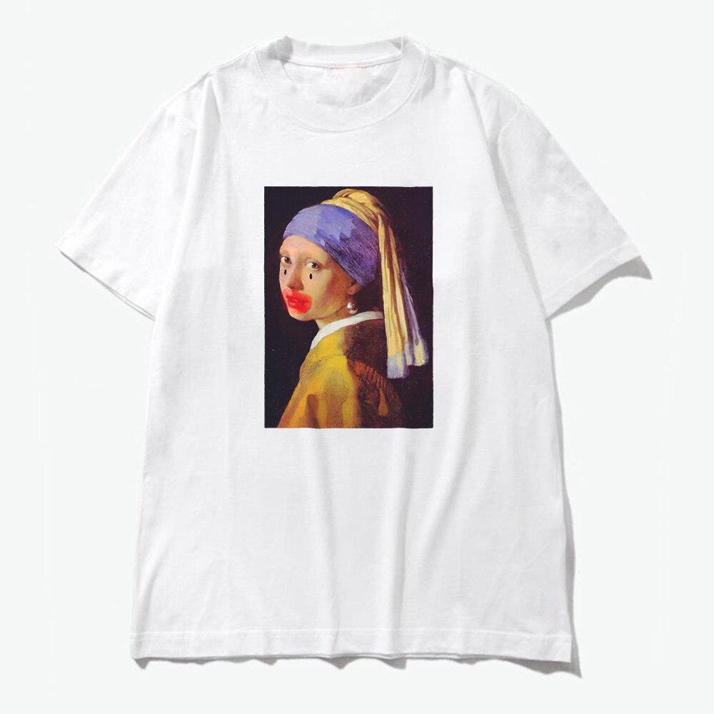 2019 Tshirt Women Cotton Funny Pear Girl Harajuku Aesthetics White T-Shirt Short Sleeve Plus Size T Shirt Gothic Femme Top Tees