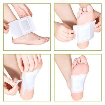 10 قطع جديد kinoki السموم القدم الوسادات القدم التصحيح الذهب اللون السموم تصحيح القدم أداة العناية السلامة 1