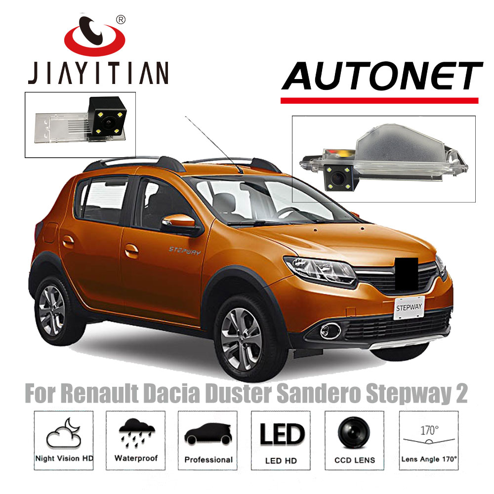JiaYiTian Rear View Camera For Renault Sandero/Dacia Sandero II Stepway 2 2012~2019 Backup Reverse Camera License Plate Camera
