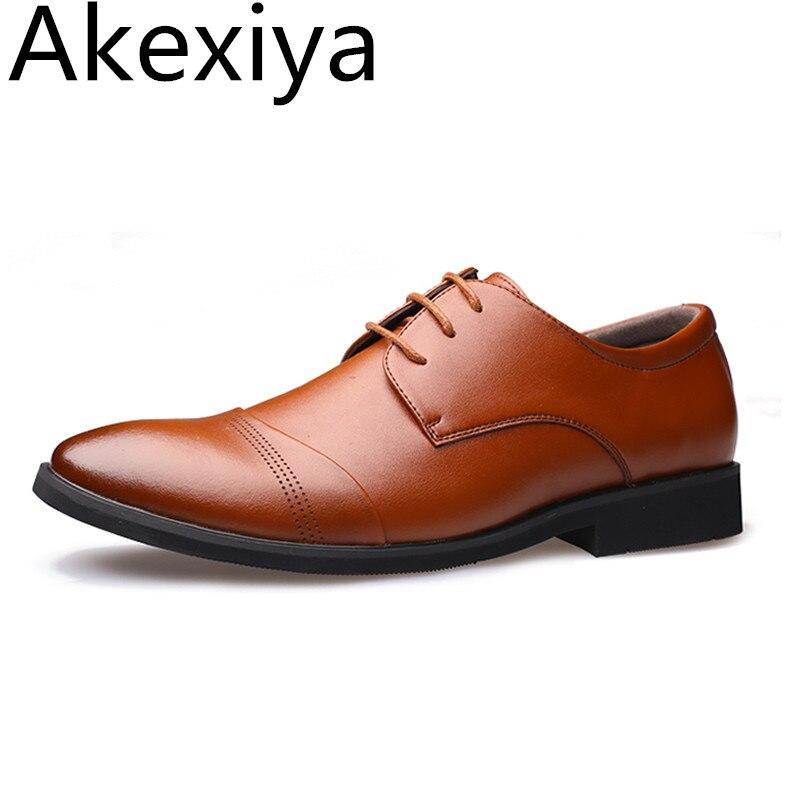 Avocado Store Akexiya  2017 Handmade Men Flats Men Genuine Leather Shoes Men Wedding Oxford Business Dress Shoes
