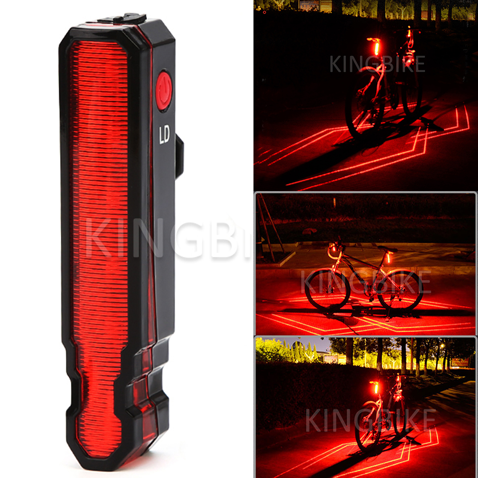 цена на Rear Bike light Taillight Safety Warning USB Rechargeable Bicycle Light Tail Lamp Comet LED Laser Line LD Cycling Bycicle Light