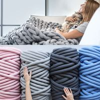 1000g Super Thick Merino Wool Alternative Chunky Yarn DIY Bulky Arm Knitting Blanket Hand Knitting Spin Yarn