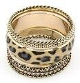 Moda anillo de la mano para mujer moda vintage leopard print multi-layer pulsera multi-circle pulsera