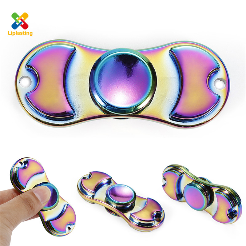 Liplasting Fidget Tri Spinner Toy EDC Hand Spinner Metal Ceramic Bearing For Autism and ADHD Anti