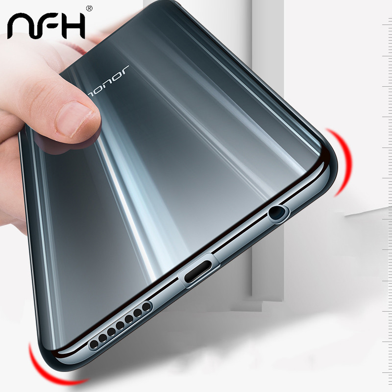 NFH Luxury Plated TPU Case For Huawei Honor 9 10 Transparent Ultra Thin Silicone Cover For Huawei On Honor 9 10 lite Phone shell image