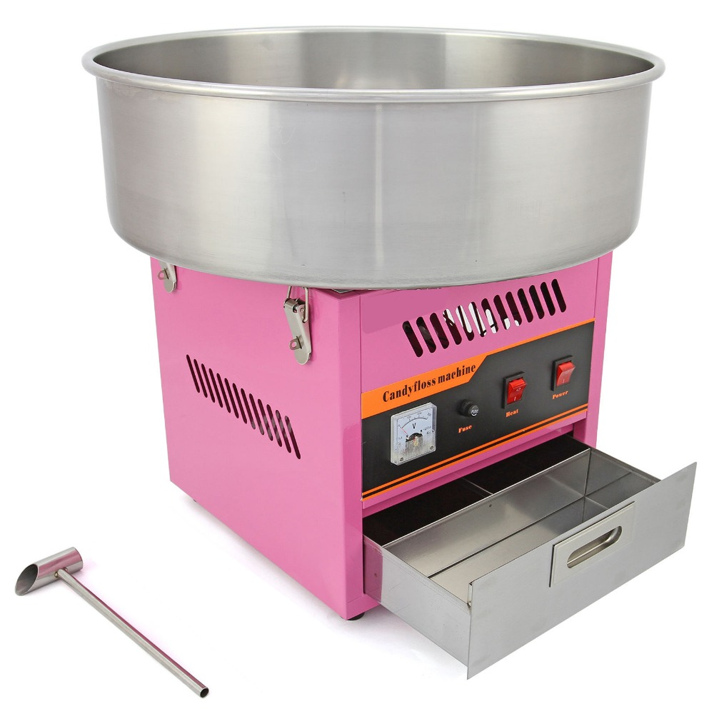 Electric Candy Floss Making Machine Cotton Sugar Maker Stainless Steel Bowl Pink 52CM 1030W make international keith brymer jones punk range sugar bowl sugar stay or sugar go