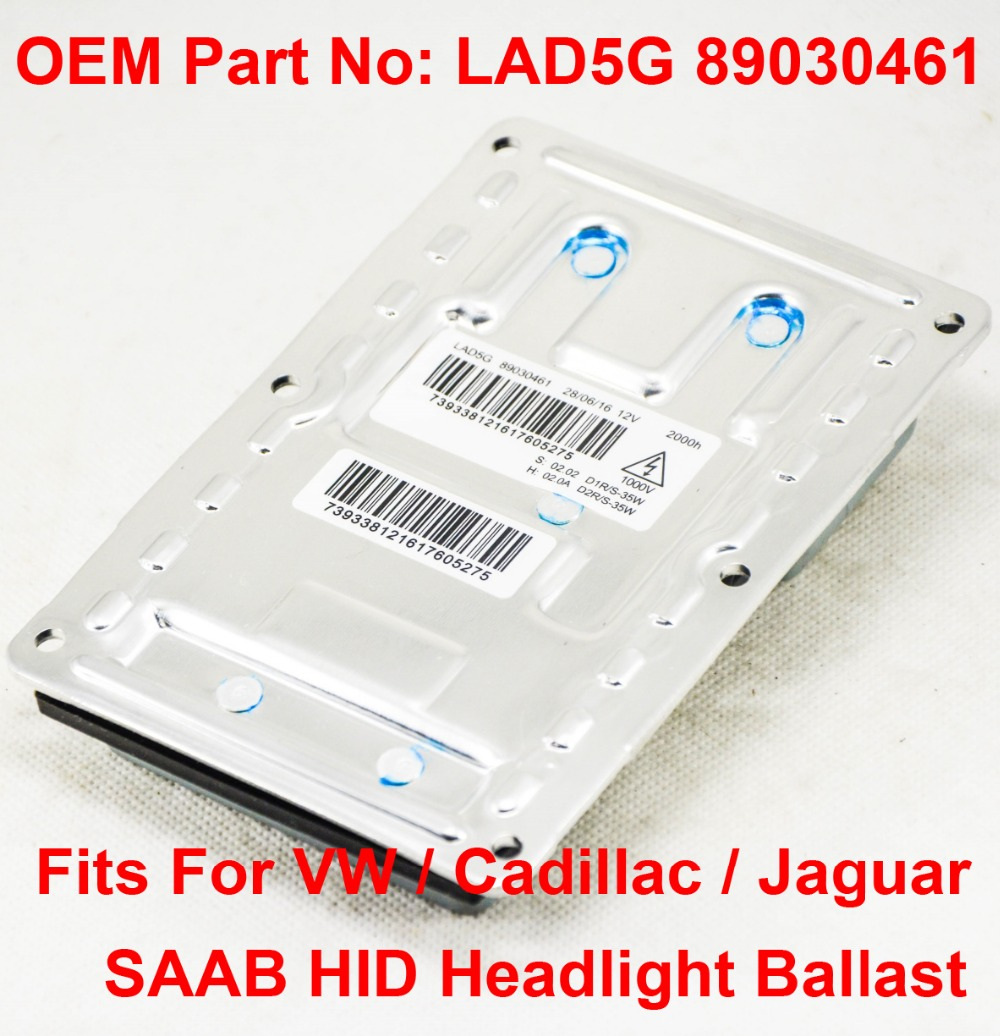 1x LAD5G 89030461 OEM HID Xenon Headlight Ballast Control Unit 12-Pin D1R//S D2R