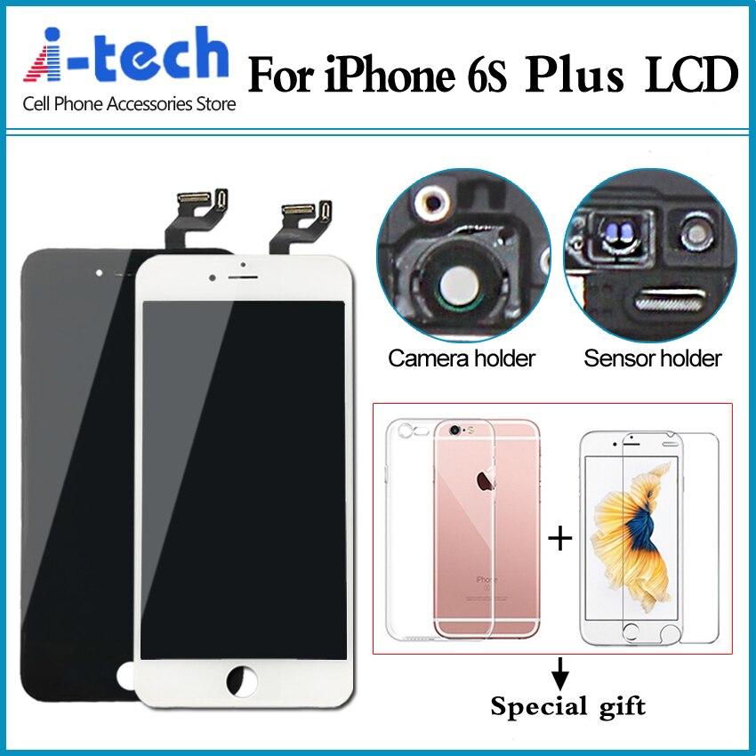 imágenes para 10 UNIDS/LOTE Mayor Grado AAA + + + Para el iphone 6 S Plus Pantalla LCD Asamblea Reemplazo de la Exhibición Con 3D Toque de Fuerza envío Gratis