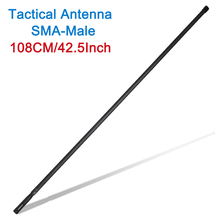 108cm exército dos eua SMA M masculino dupla banda vhf uhf dobrável antena tática para icom yaesu tyt MD 380 ham rádio walkie talkie