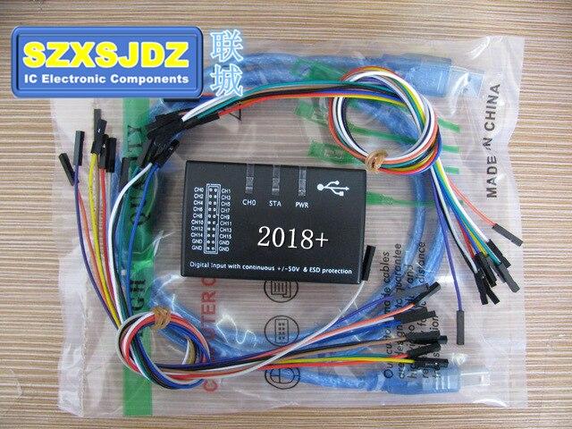2018 USB 16 Logic 100 MHz 16Ch Logic Analyzer para ARM FPGA