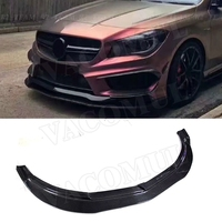 For W117 CLA Class Car Racing Carbon Fiber Front Bumper Lip Spoiler for Mercedes Benz CLA200 CLA250 CLA45 AMG 2013 up