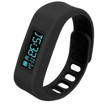 YCYS-Bluetooth 4.0 Smart Wrist Watch Health Sport & Sleep Tracking-Black