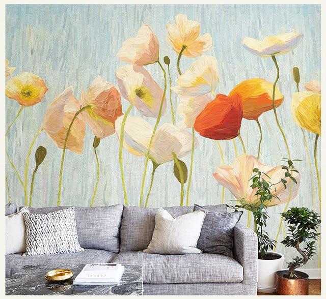 Bacal Original Design Lotus Flower Murals Wallpaper For Walls Living Room Sofa Background 3d Wall Photo