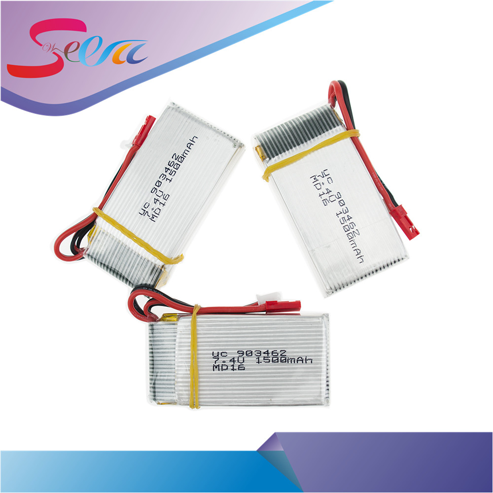 ФОТО 2 or 3 pcs/lot 7.4V 1500Mah 25C Lipo Battery For WLtoys V913 Q212G V912 V262 L959 L979 JST plug For RC Helicopter Drone Bateria