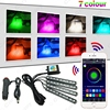 20sets Car Blutooth APP Intelligent Control Decorative LED Atmosphere Neon Light RGB Car Interior Footwell Light