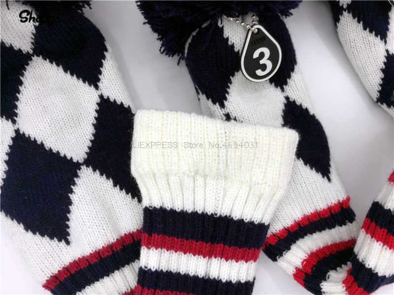 Новый череп головные уборы для гольфа Гольф Драйвер файрвэй Вудс гибридные Чехлы 135ut PU с бархатной новинка подарок