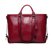 Free Shipping New 2016 High Quality Brand Leather Lady Women Handbags red+black+brown+blue color designers ACC063