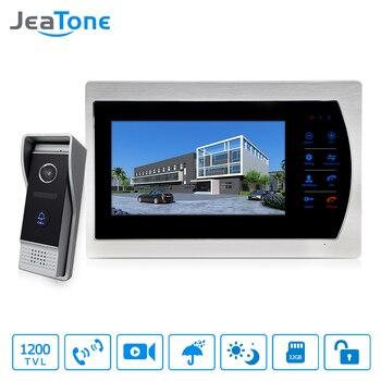 Jeatone 10 TFT Display wired Video doorbell Door Phone Intercom &3.7mm Lens Touch Key Outdoor Camera For Home Security