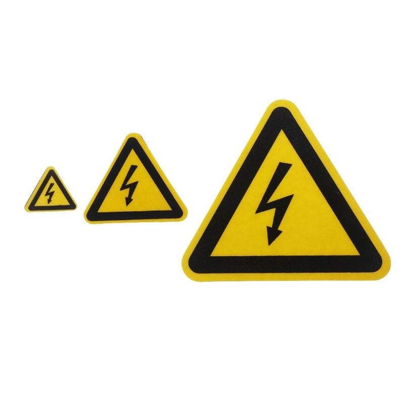 Warning Sticker Adhesive Labels Electrical Shock Hazard Danger Notice Safety 25mm 50mm 100cm PVC Waterproof  HM