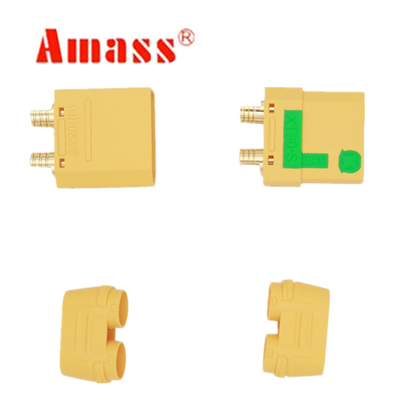 Original Amass 5 Pair XT90S XT90-S XT90 Connector Anti-Spark Male Female Connector For Battery ESC Charger Lead 30%Off