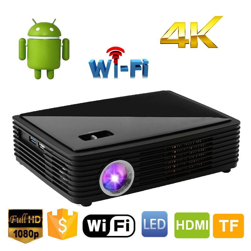 New Arrivaled 3000 Lumens Mini WiFi Smart Blu Ray 3D HD