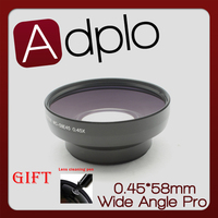 Professional 58mm 0 45X Wide Angle Lens With Macro Black Suit For Canon Nikon Sony With