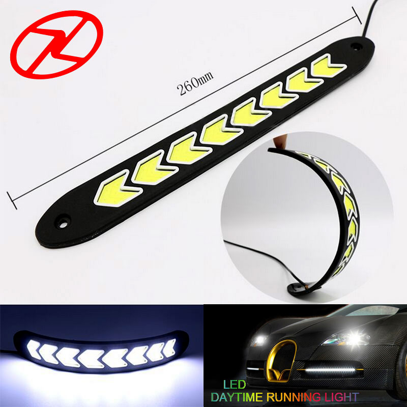 2PCS car styling Led flexible luz diurna Impermeable Universal Forma - Luces del coche